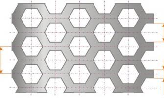 Furos-hexagonais